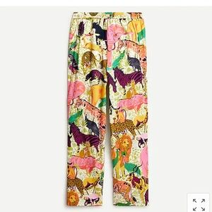 Jcrew wide-leg pant in Ratti® safari print AN002